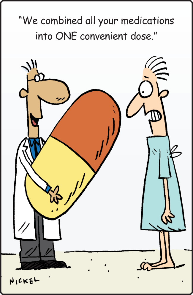 Funny quote on combining medications into one convenient dose